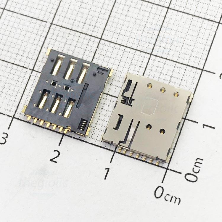 6P-NS-PP-V1 Khe Cắm Nanosim 6Pin Push-Push
