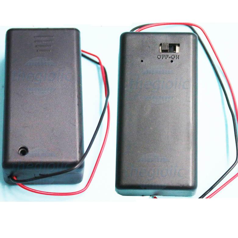 Hộp Pin 1x9V Nắp Công Tắc On-Off