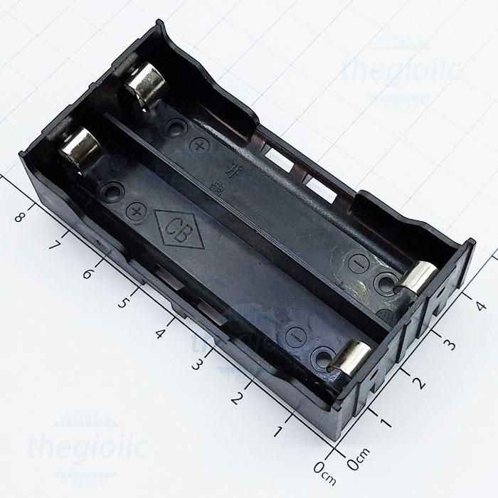 Đế Pin 2x18650 Hàn PCB