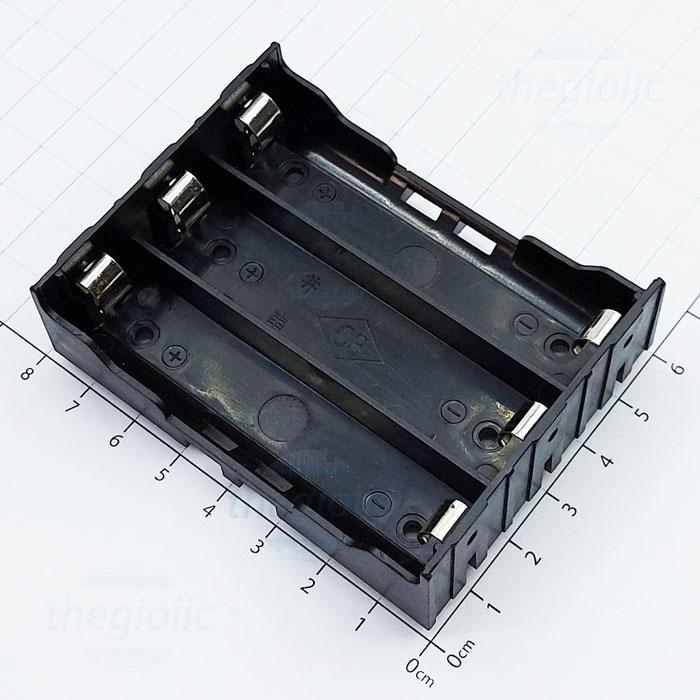 Đế Pin 3x18650 Hàn PCB
