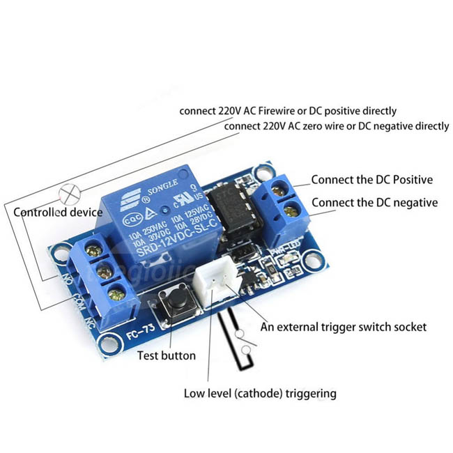 12V-FC-13 Latching Relay Module