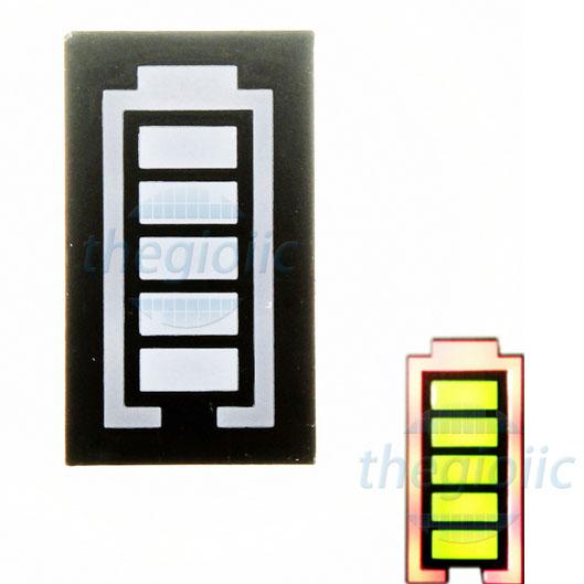 LED Vàng 6 Thanh Hiển Thị Mức Pin