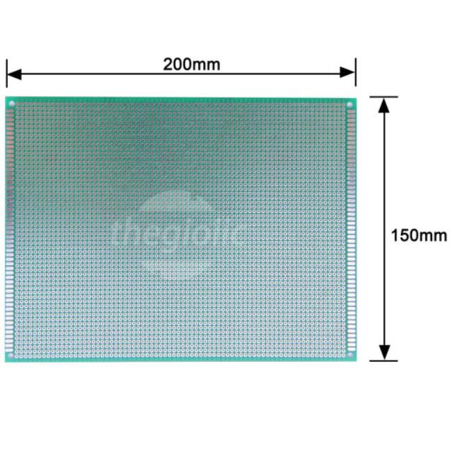 FR4 PCB Hàn Test Board 15x20cm Phủ Xanh