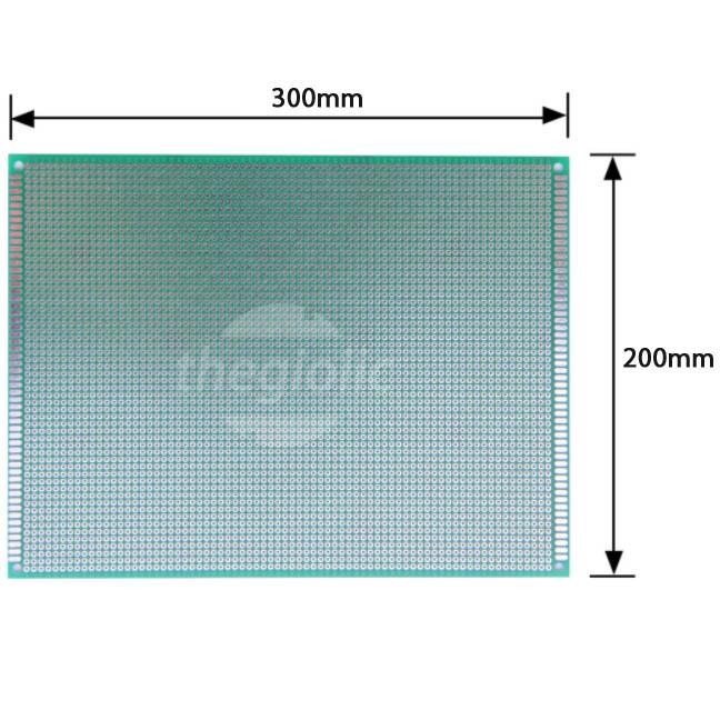 FR4 PCB Hàn Test Board 20x30cm Phủ Xanh