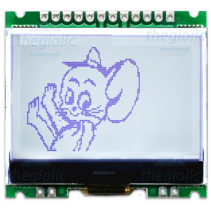 LCD COG 1.7inch 12864 Giao Tiếp SPI V2