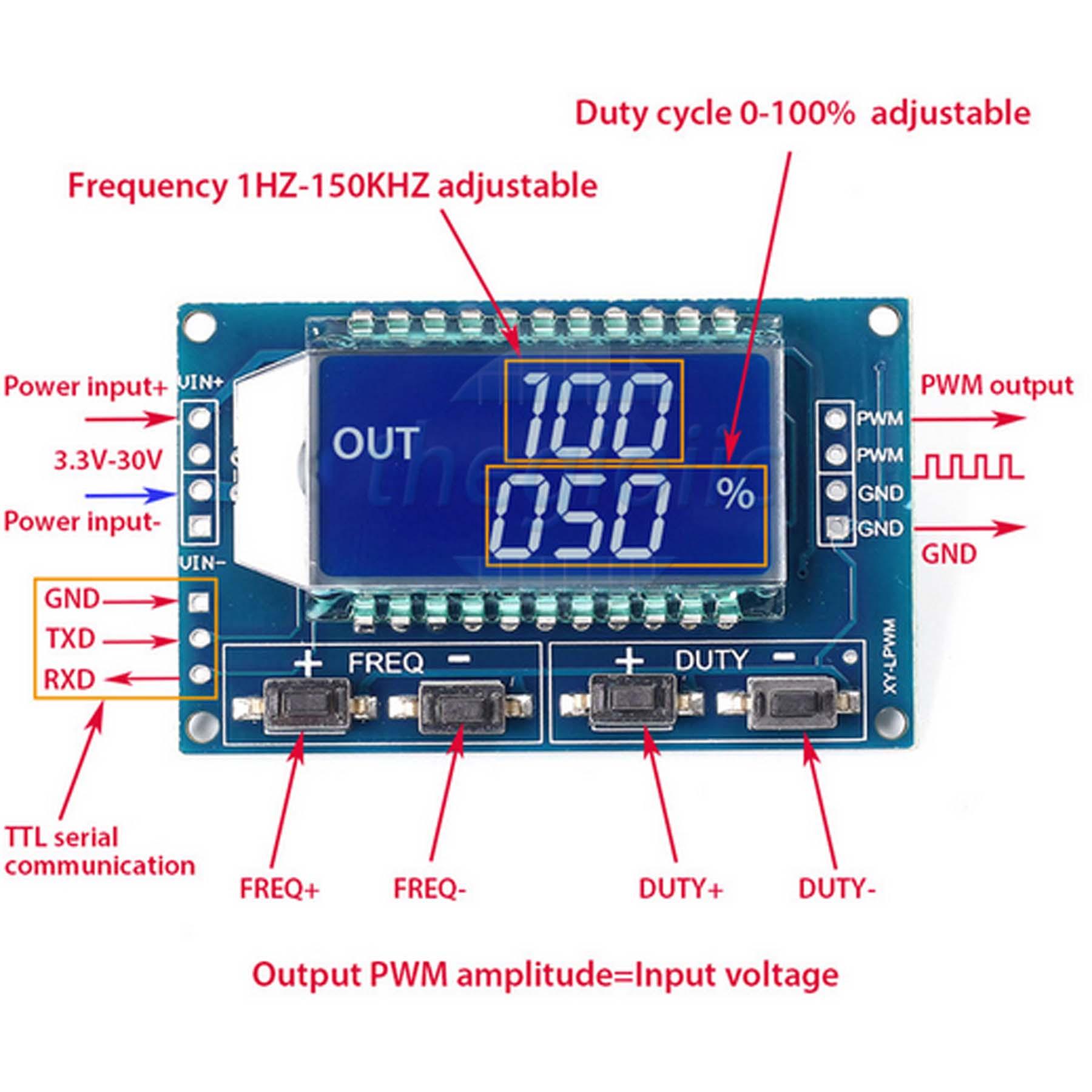 Máy Phát Xung PWM Hiển Thị LCD