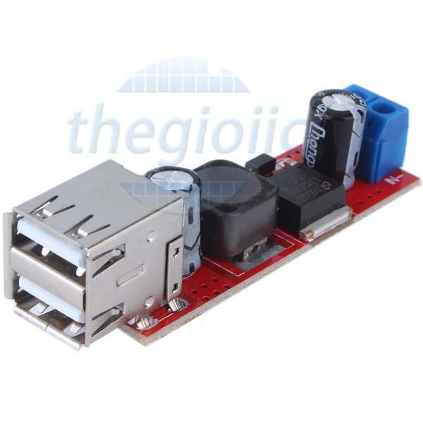 LM2596S Mạch Giảm Áp 5V3A Dual USB Type A