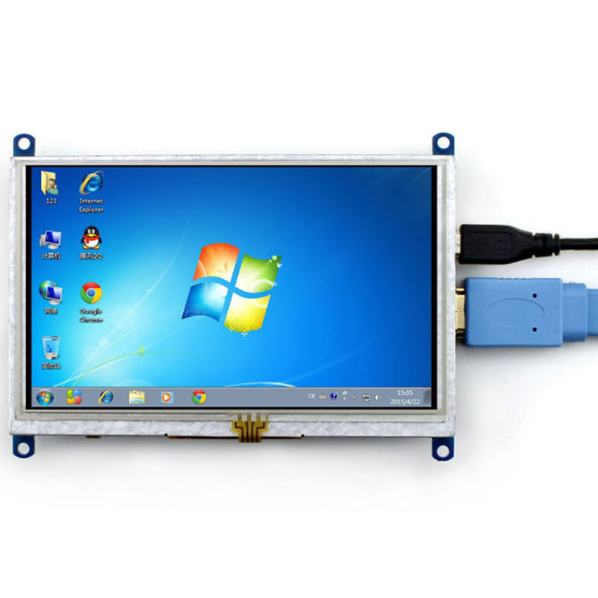 LCD 5inch Cảm Ứng Điện Dung Cho Raspberry Pi HDMI