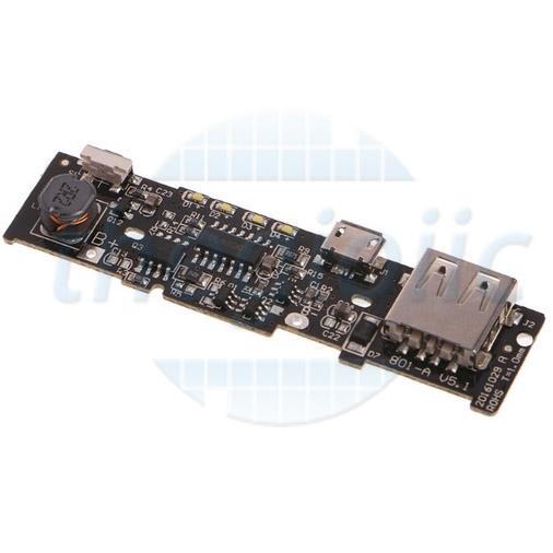 Mạch Sạc Pin 18650 Ngõ Vào MicroUSB Ngõ Ra USB V1