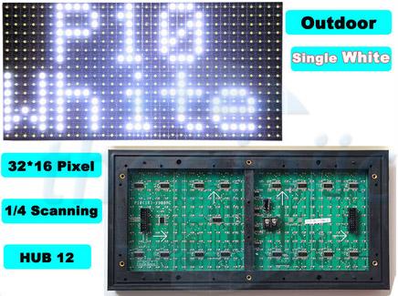 LED Ma Trận Trắng Ngoài Trời P10-W-OD-1632
