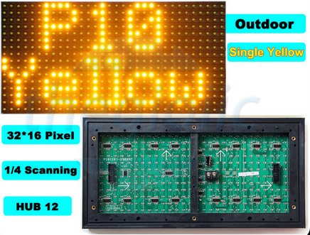 LED Ma Trận Vàng Ngoài Trời P10-Y-OD-1632