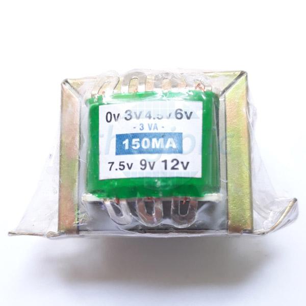 Máy Biến Áp 150mA (3V 4.5V 6V 7.5V 9V 12VAC)