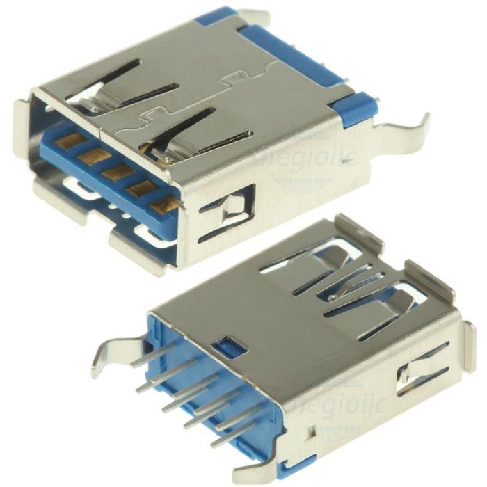Cổng USB3.0 TypeA Đầu Cái 9Pin 180