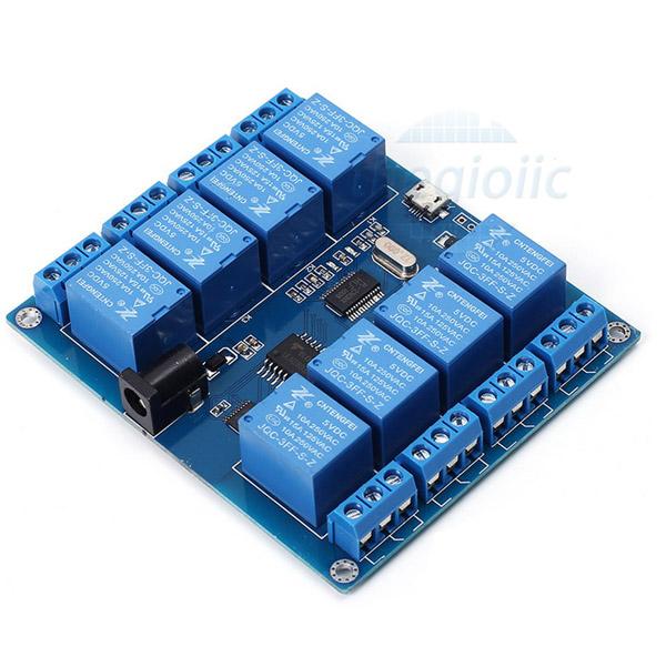 Module 8 Relay 5V Giao Tiếp Micro USB