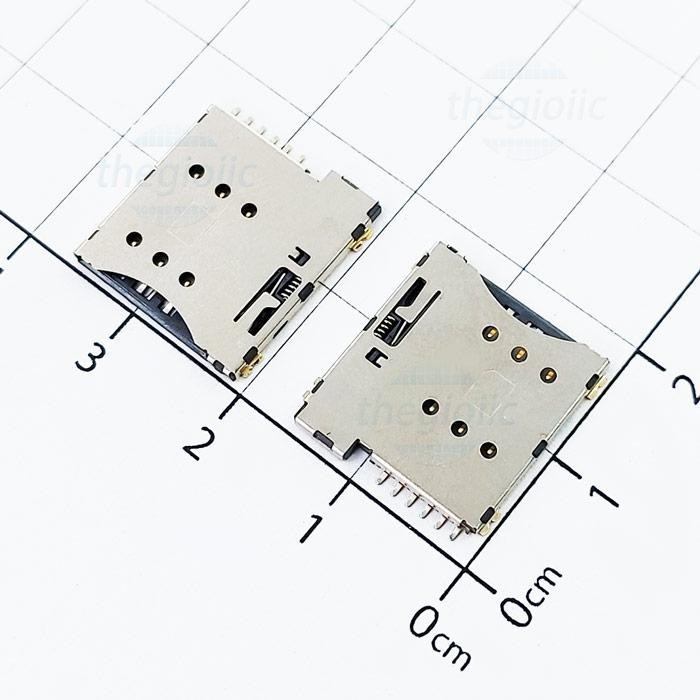 Khe Cắm MicroSim 6Pin Push-Push V1
