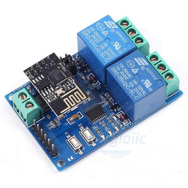 Module Wifi ESP8266 2 Relay 5V