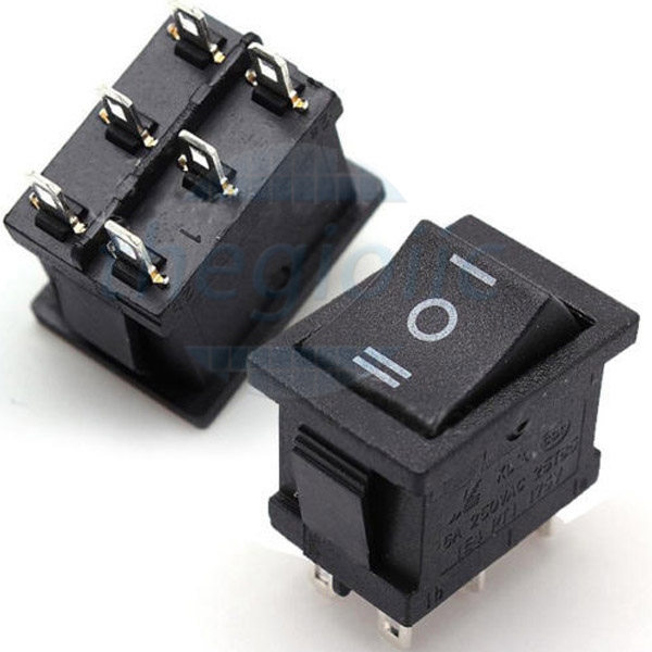 KCD1-6P Công Tắc ON-OFF-ON 6Pin 10A