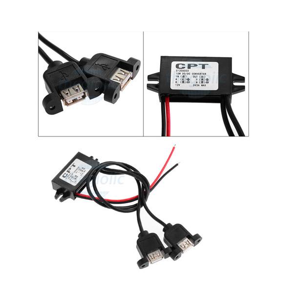 Mạch Giảm Áp Ngõ Ra USB 12V-5V 3A 15W