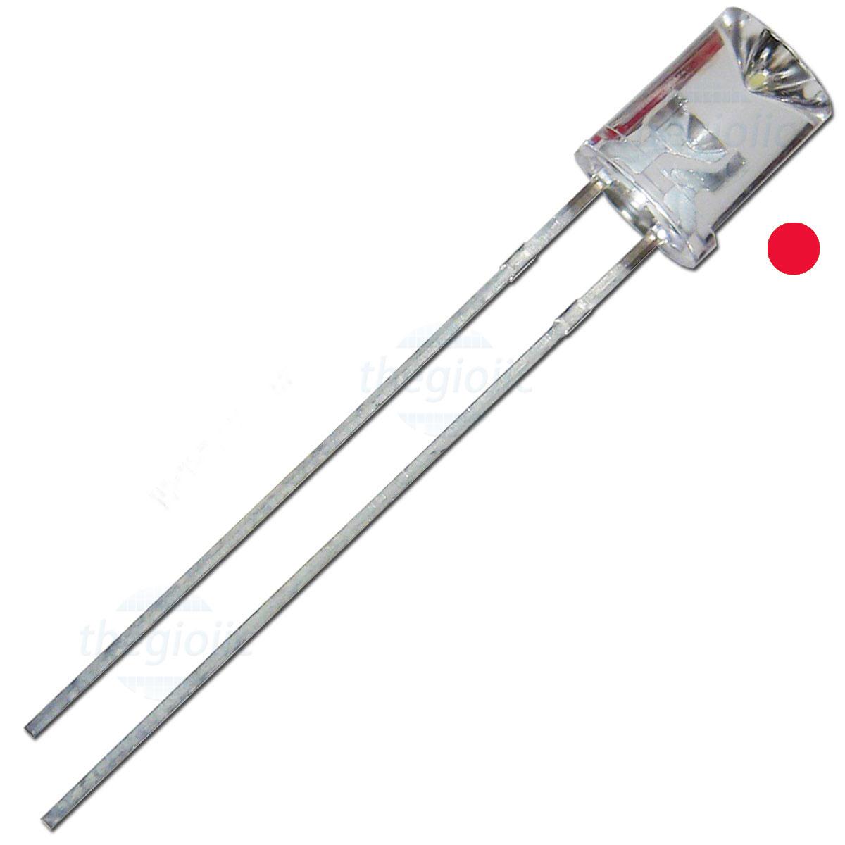 LED Đỏ 5mm Đầu Lõm