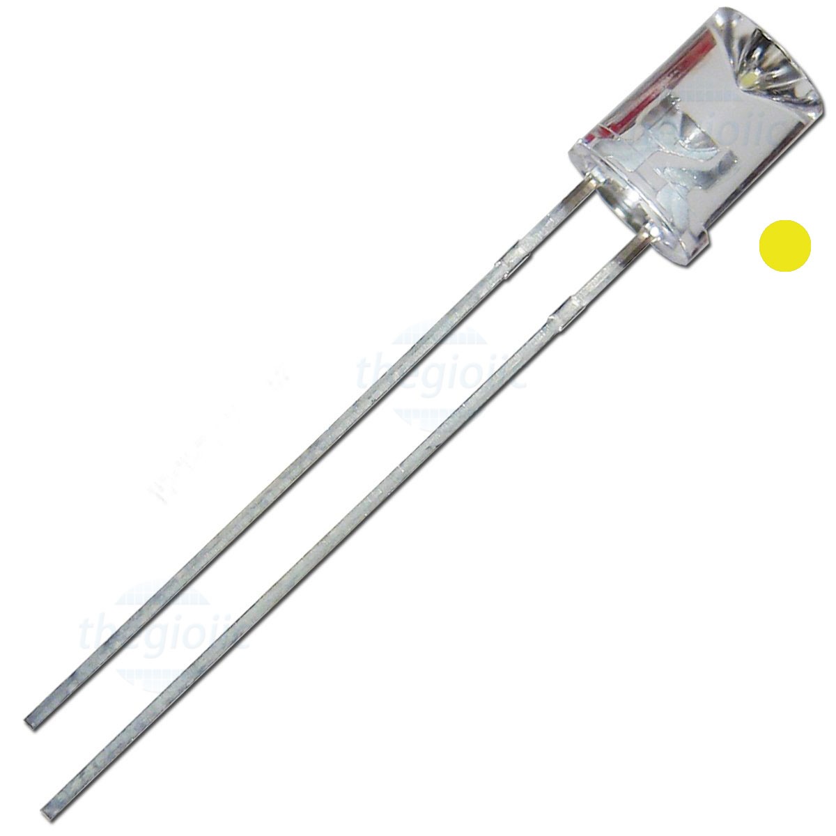 LED Vàng 5mm Đầu Lõm