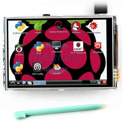 LCD 3.5inch Cảm Ứng Điện Trở Cho Raspberry Pi