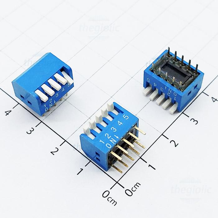 Công Tắc 5Bit Dạng Piano Dip Switch