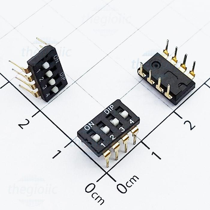 Công Tắc 4Bit Gạt Top Dip Switch Đen
