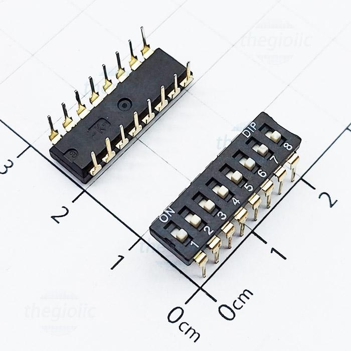 Công Tắc 8Bit Gạt Top Dip Switch Đen