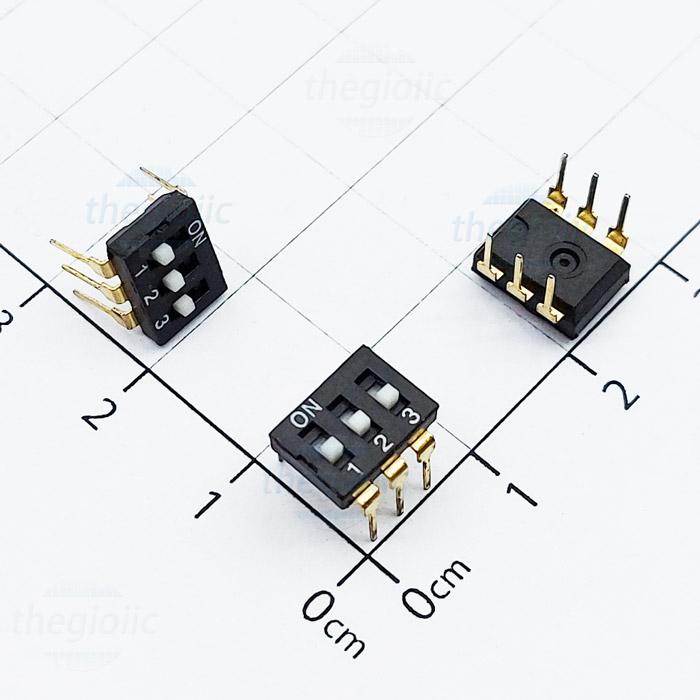 Công Tắc 3Bit Gạt Top Dip Switch Đen