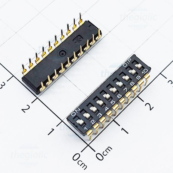 Công Tắc 10Bit Gạt Top Dip Switch Đen