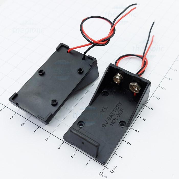 Hộp Pin 1x9V Nối Dây 15cm