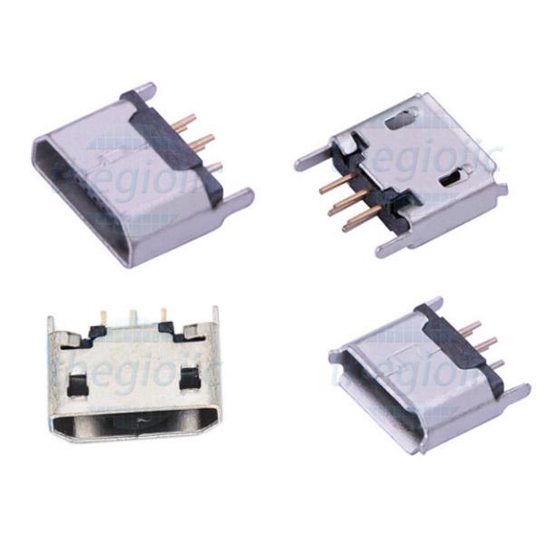 Cổng MicroUSB TypeB Đầu Cái 5Pin Hàn PCB