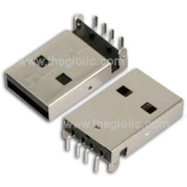 Cổng USB2.0 TypeA Đầu Đực 4Pin 180