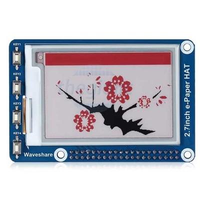 LCD E-Ink Đỏ Đen Trắng 2.7inch 264x176 Giao Tiếp SPI