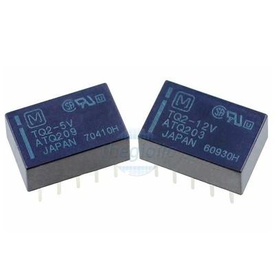 TQ2-5V Relay Tần Số Cao 5VDC 10Chân DPDT