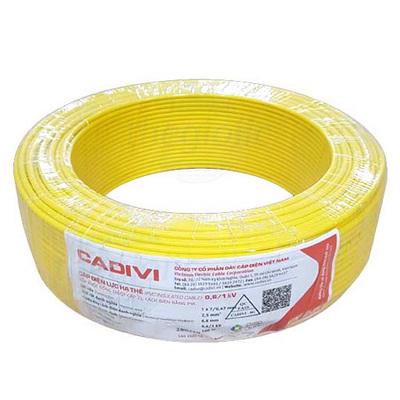 Dây Đơn Cadivi CV-1.5 1.5mm2 Màu Vàng